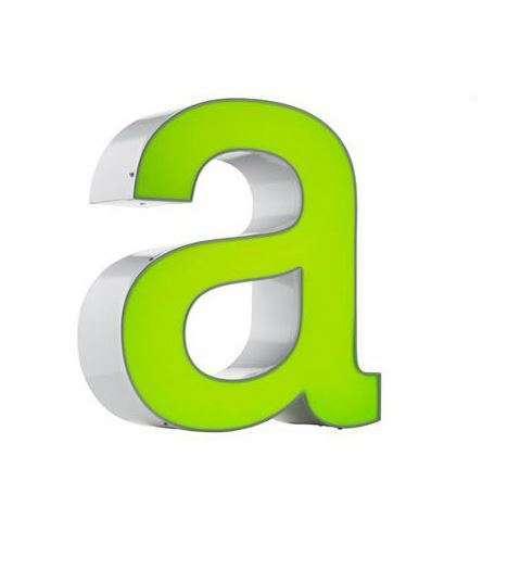 Dooslamp kunststof letter