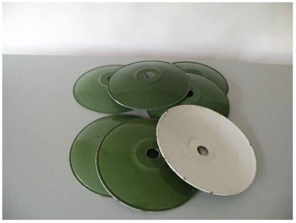 Geemaileerde schotellamp groen meerdere 2