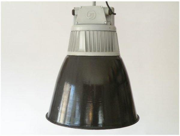 Geemailleerde XL hanglamp 1
