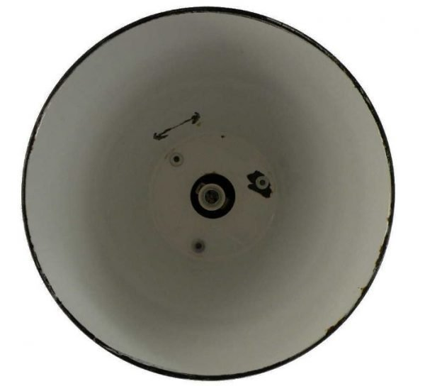 Geemailleerde XL hanglamp binnenkant