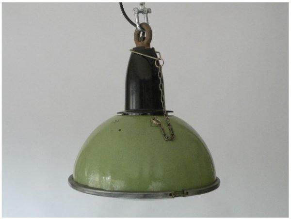 Groen geëmailleerde hanglamp 2