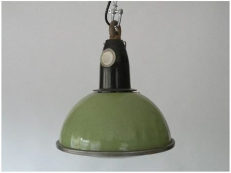 Enameled green ceiling light
