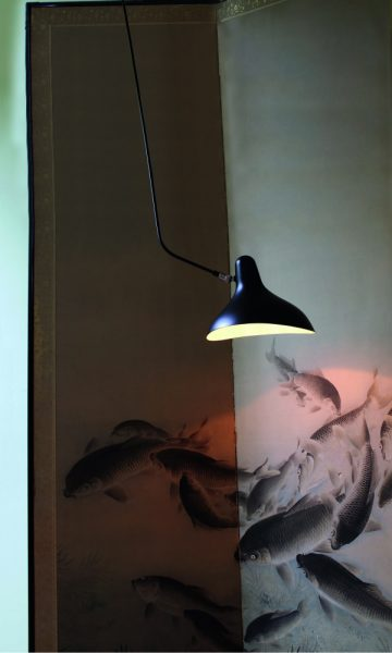 Mantis BS4 L wand lamp in de woonkamer