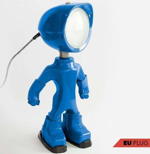 The Lampster Blauw BINK lampen voorkant