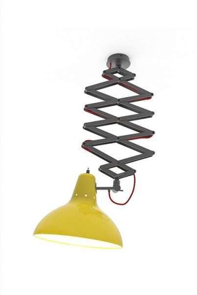 diana-hanging-dining-flexible-fixture-zwart chroom geel