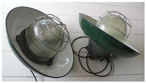 geemailleerde xl hanglamp groen twee