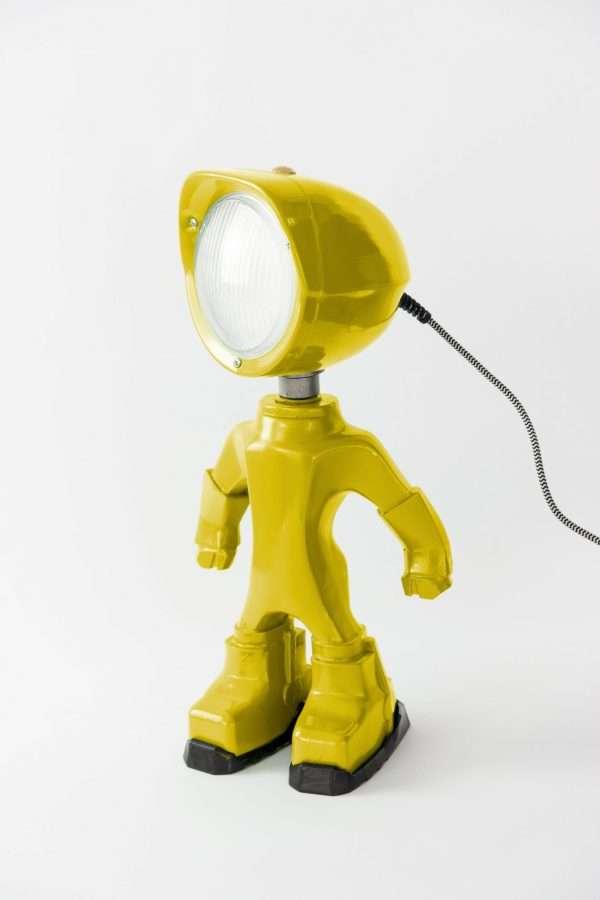 The lampster geel voorkant BINK lampen