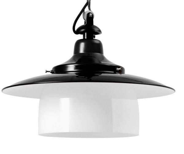 Hannover stolplamp zwart detail