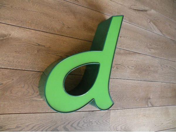 letterlamp groen d 3
