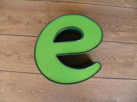 letterlamp groen e 1