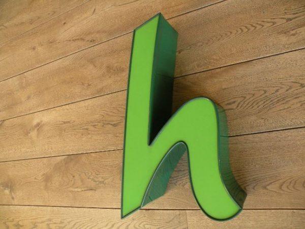 letterlamp groen h 3