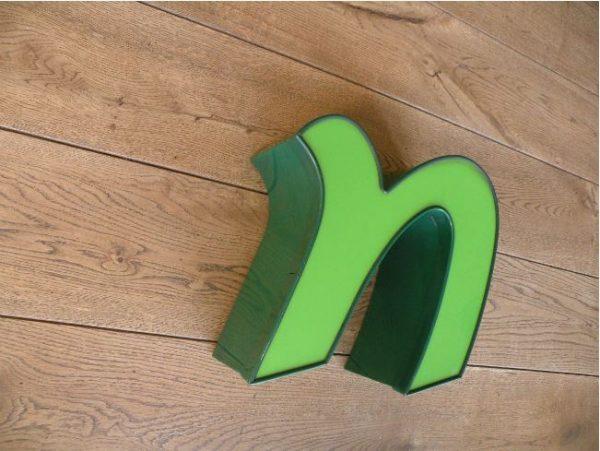 letterlamp groen n 2