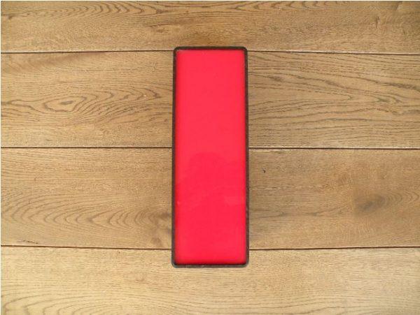 letterlamp zwart rood i 1