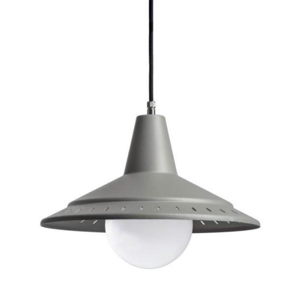 De modernist Anvia retro hanglamp BINK lampen beton grijs