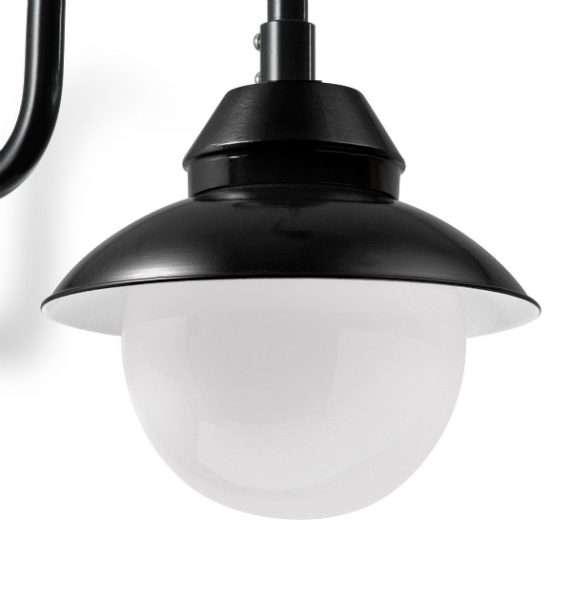 Mainz kogel wandlamp detail