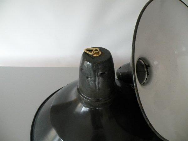 Geemailleerde hanglamp blauw L 2