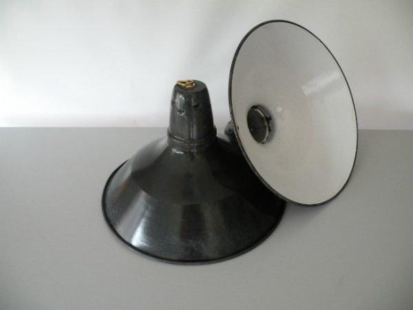 Geemailleerde hanglamp blauw L 3