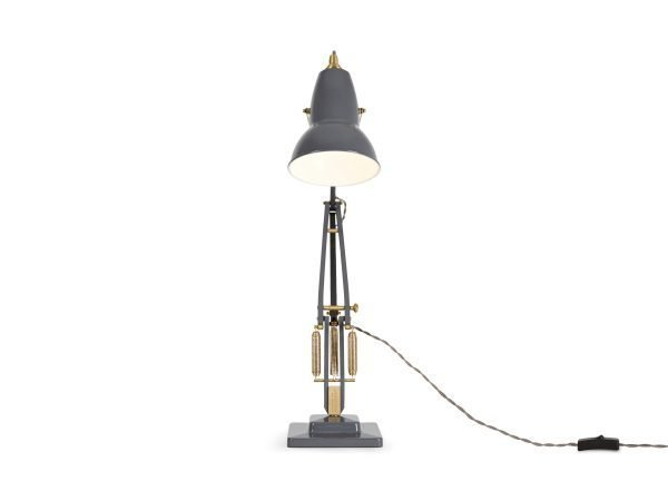 Original 1227 Messing bureaulamp Elephant Grey 4