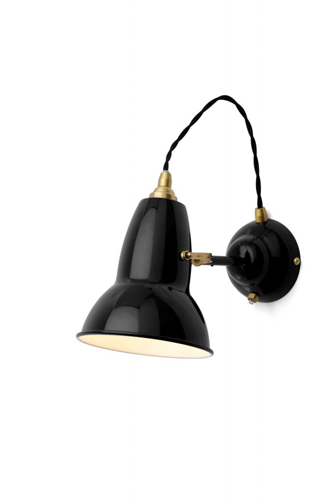 Original 1227 messing wandlamp Deep Slate 2