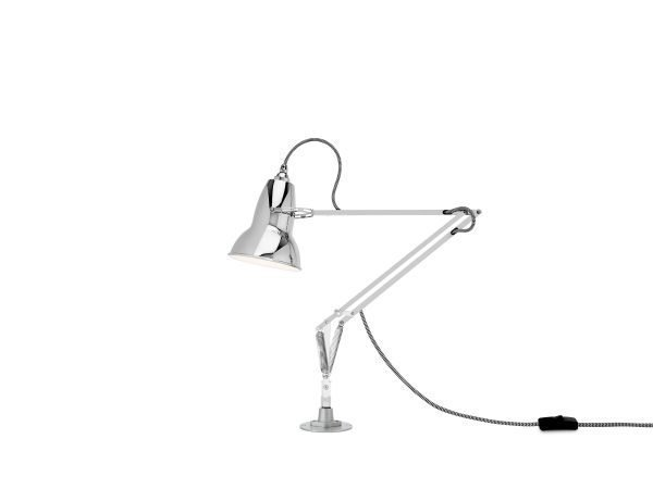 Original 1227 Desk Lamp Bright Chrome met vaste voet 1