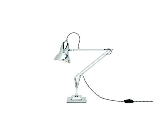 Original 1227 bureaulamp Bright Chrome w BW Cable 1