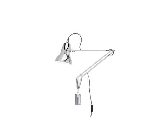 Original 1227 muur Lamp Bright Chrome w BW Cable 1