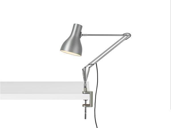 Anglepoise type 75 klemlamp bureaulamp Brushed Aluminium 1