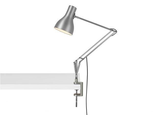 Anglepoise type 75 klemlamp bureaulamp Brushed Aluminium 2