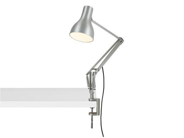 Anglepoise type 75 klemlamp bureaulamp Brushed Aluminium 3