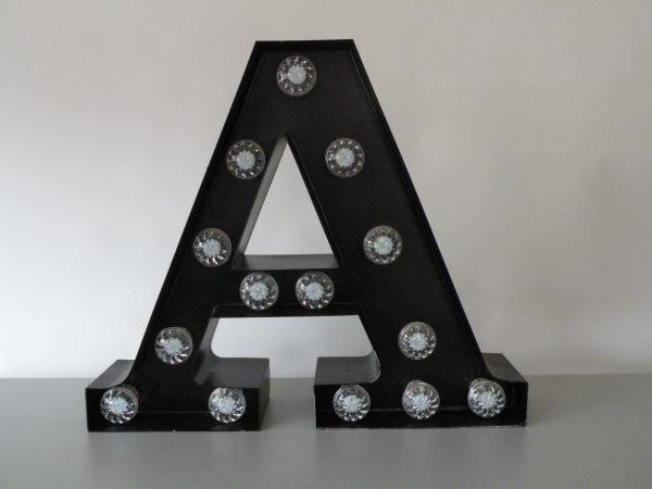letterlamp bakletter A voorkant