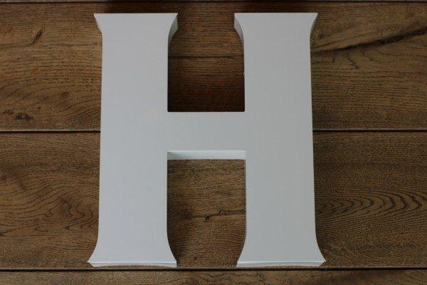 backlit letterlamp H 1