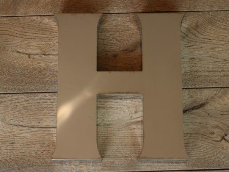 backlit rvs letterlamp H 1