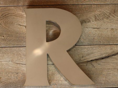 backlit rvs letterlamp R 1