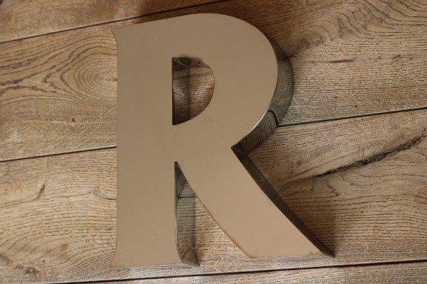 backlit rvs letterlamp R 2