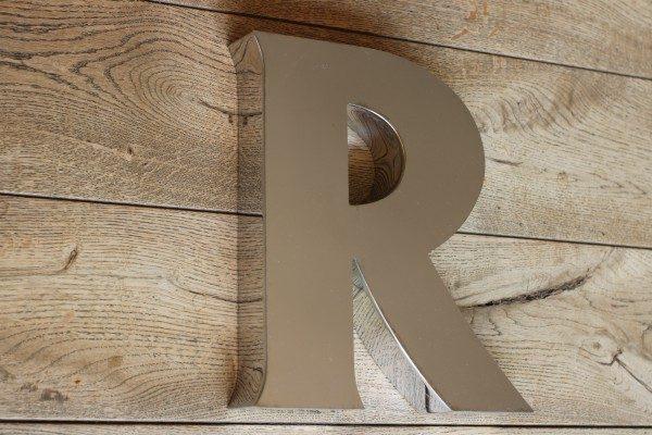 backlit rvs letterlamp R 3