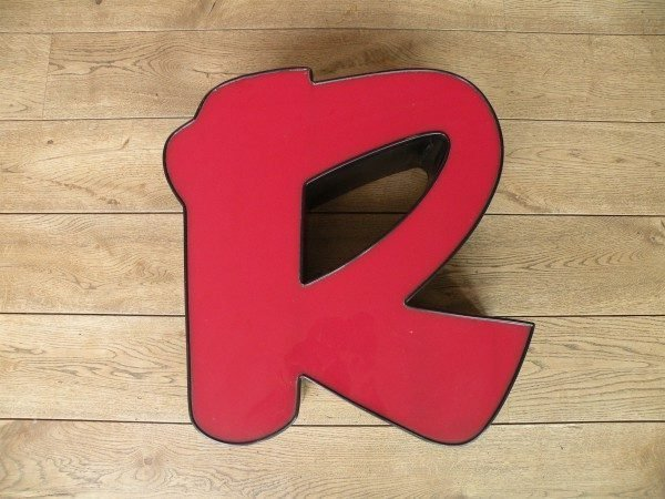 rood zwart letterlamp R 1