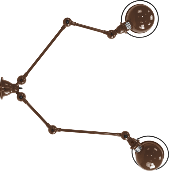 Jielde-Loft-SKY4224-muurlamp-Chocolade-RAL-8017