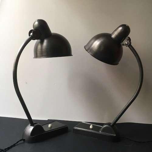 Bauhaus set jaren 30 lampen 1