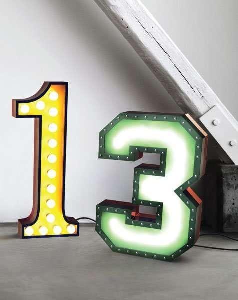 Delightfull letterlamp 1 en 3