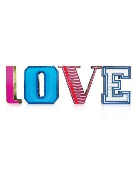 Delightfull letterlamp Love
