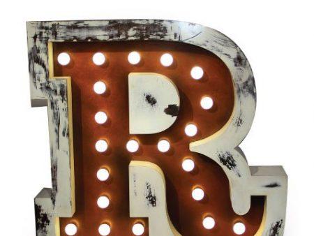 Delightfull letterlamp R voorkant 1