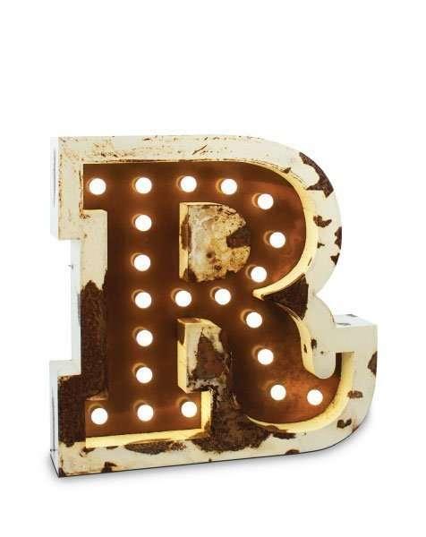 Delightfull letterlamp R voorkant