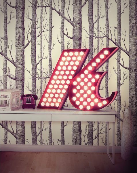 Delightfull letterlamp k in situ