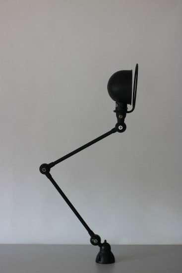 Jieldé vintage Loft wandlamp 2-arm zijaanzicht