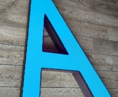 Blauwe letterlamp A 1