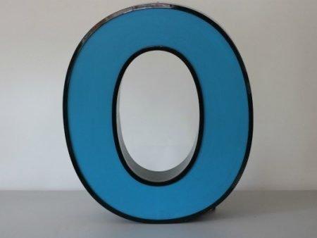 Letterlamp blauw letter O 1