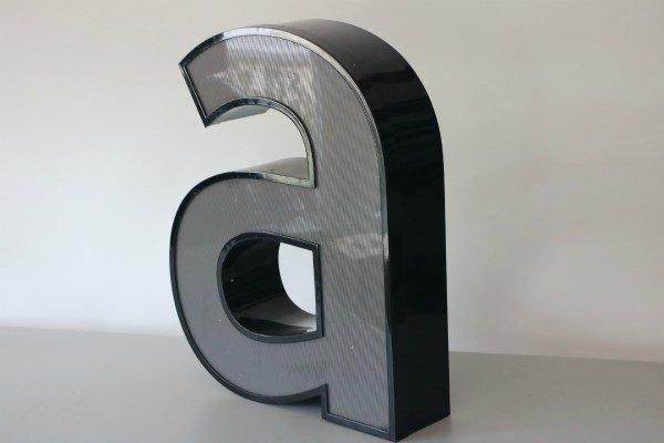 Letterlamp zwart letter a 3