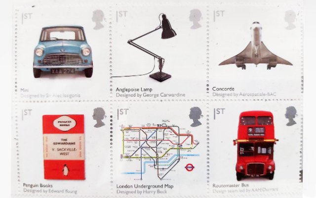 Anglepoise op postzegel