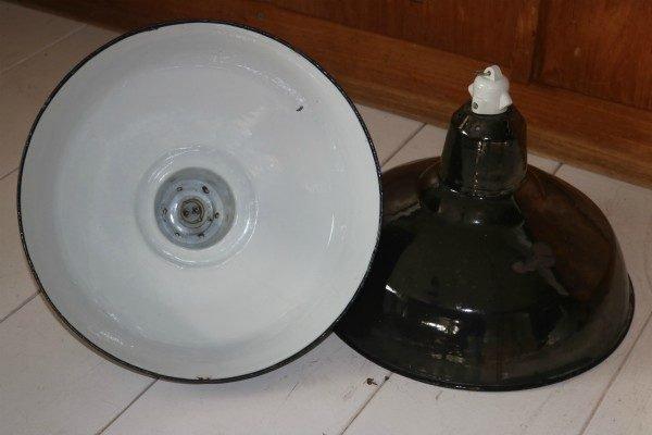 Industriele franse hanglamp BINK paar 1