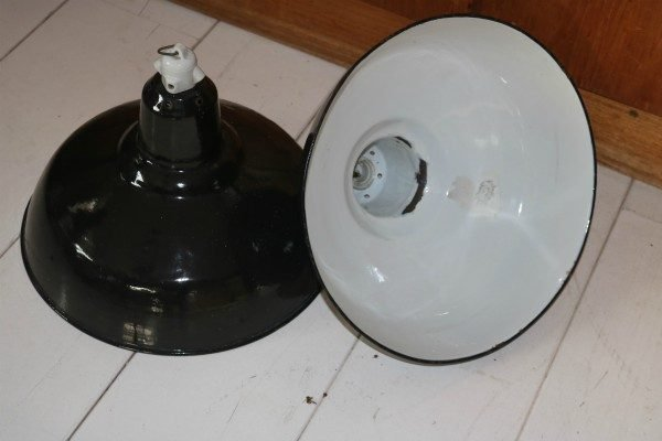 Industriele franse hanglamp BINK paar 2